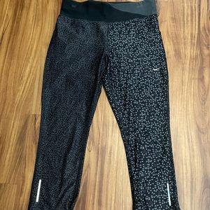 Nike Pro Black and Grey Dri Fit Capris